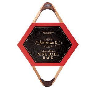 Triãngulo de bilhar Brunswick 9 Ball Rack